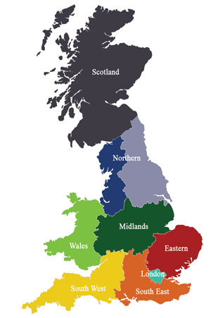 uk boarding schools map